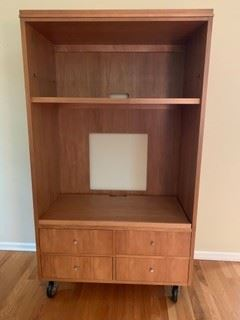 Ethan Allen entertainment center - cherry with drawers