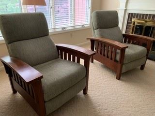 Ethan Allen American Impressions Missions style reclining chairs