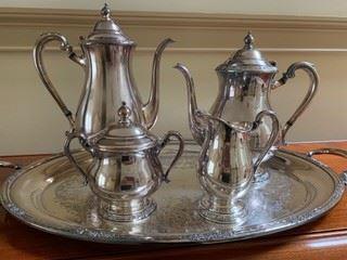 International Silver  tea set - silver plate