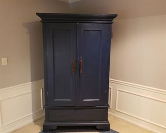 Refinished Arhaus Entertainment Armoire