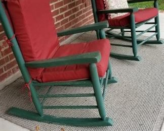 Great Rocking Chairs and outdoor rug