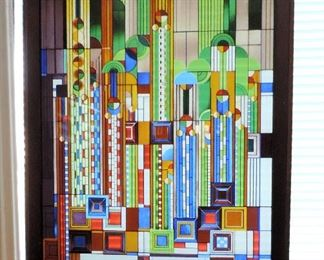FRANK LLOYD WRIGHT STAINED GLASS MUSEUM REPRODUCTION