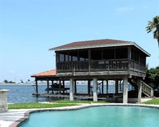 2 STORY SCREENED BOATHOUSE AND IN GROUND POOL