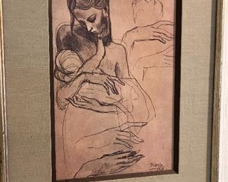 Picasso reproduction print - framed