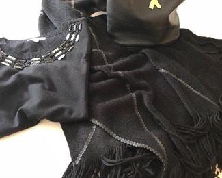 Palamo Picasso Bag, evening shawl and designer sweater