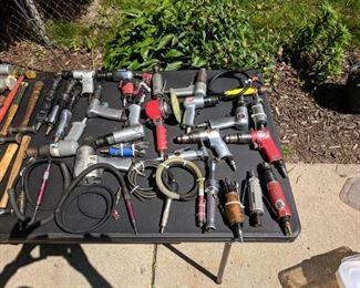 Impact tools, pencil grinders snap-on ,dotco, Campbell hausfeld, Michigan pneumatic