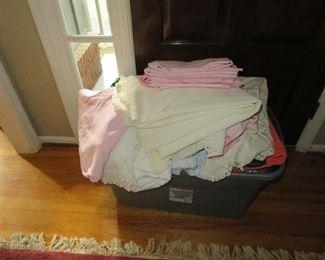 Tableclothes, cloth napkins, etc.