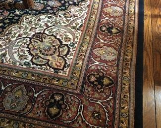 9 x 12 Wool Area Rug - hand-made - EXCELLENT condition