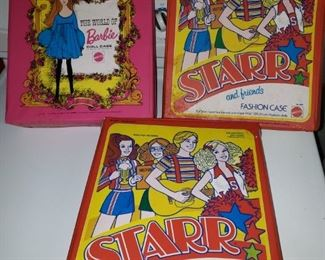 Vintage Barbie, Vintage Starr and Friends with Fashion Cases