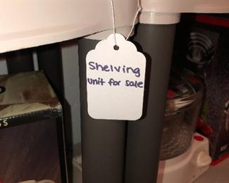 Plastic shelving units for sale!