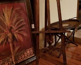 art, easel and table