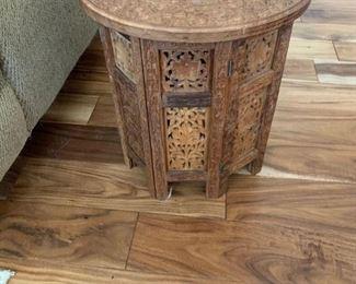 Ornate Wood Storage Table