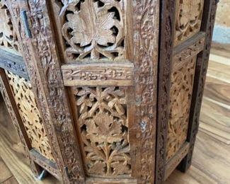 Ornate Wood Side Table