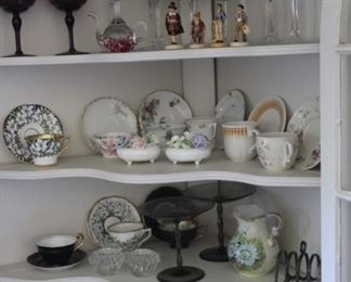 SOME OF THE TEACUPS AND OTHER SMALLS