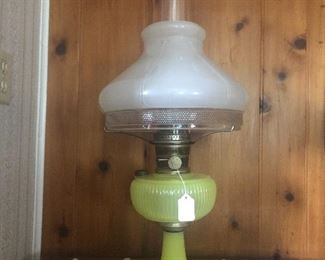 Aladdin yellow vertique oil lamp