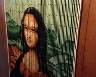 Mona Lisa beaded curtain