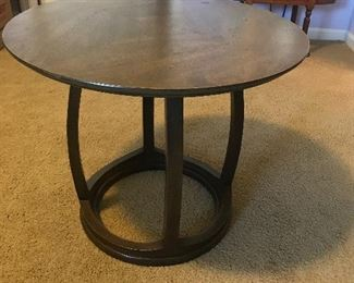$125***Mid Century Round table by Mount Airy