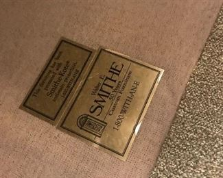 The label on the Sofa