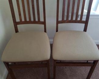 Folding Oak Chairs