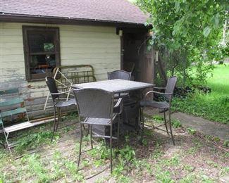 High top patio set