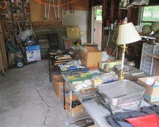 A  garage full of , let me be frank... Junk
