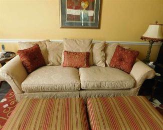 sofa and ottomans