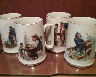 Norman Rockwell Mug Set