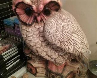 Giant Vintage Ceramic Owl