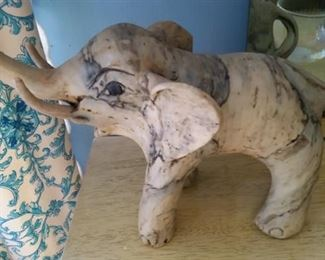 Vintage Shell Elephant