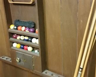 Pool Sticks & Balls