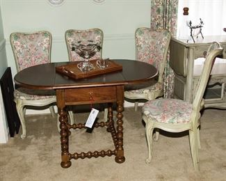 Martha Stewart Table and White Fine Furniture Chairs