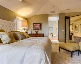 Another shot of the Restoration Hardware Headboard and lamp that is for sale.   Yellow chair is not for sale.