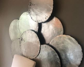 Large Silver wall art for sale.