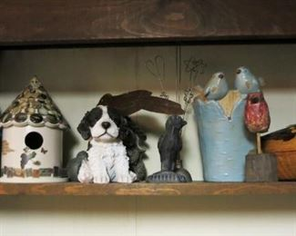 Wooden, porcelain, pottery, cast iron & wicker items