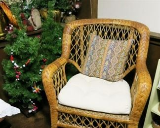 Woven rocking chair