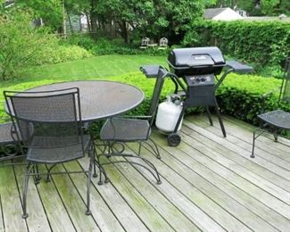 Patio furniture, grill