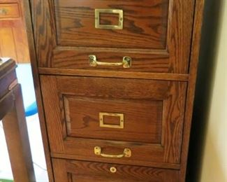 3 drawer wooden file cabinet