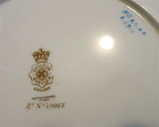 Doulton Burslem England collectible plates