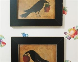 Decorative bird prints
