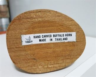 Carved bird from Buffalo horn