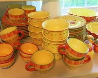 "Pfaltzgraff ""Napoli"" hand painted dinnerware and serving pieces"