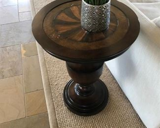 Hooker end table.Pre-sale available at highlinefurniture.com please visit website for pricing information.