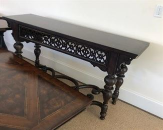 Thomasville ornate console.Pre-sale available at highlinefurniture.com please visit website for pricing information.