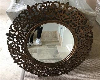 Bernhardt round ornate mirror.Pre-sale available at highlinefurniture.com please visit website for pricing information.