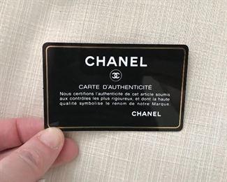 Authenticity Card