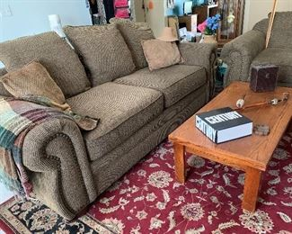 Lovely Comfy Couch and Loveseat Set