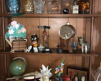 Collectible liquor bottles, bar ware and other collectibles