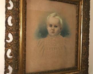 Antique baby portrait