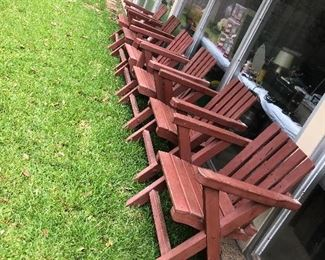 Redwood yard furniture