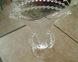 Candlewick glass vase